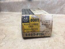 New Allen Bradley 800T-PT16 Pilot Light Push Button Series T NIB