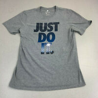 Nike T-shirt Mens Large Just Do It Fence Light Graphic Spell Out Short Sleeve