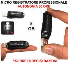 8GB MINI REGISTRATORE VOCALE VOICE RECORDER USB MICROSPIA PENDRIVE SPY SPIA 8 GB