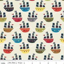 Treasure Map - Riley Blake Fabric - Ships in Cream - Half yard - Fabrics4u2