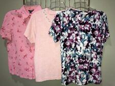 Mixed Lot 3 Tops Pink Blue White Women's PM 8–10
