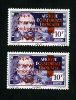 France Stamps # B10-11 VF Equatorial Africa Signed OG NH Catalogue Value $167.50