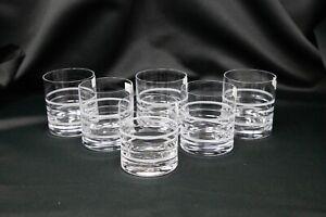 Whiskey set of 6 Vodka Water Cognac Old fashioned 10oz Bohemia Crystal Hand Cut