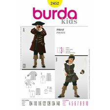 Burda Sewing Pattern 2452 Kids Boys Pirates of the Caribbean Costume