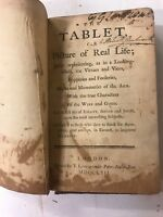 Book The Tablet Picture of Real Life 1762 Peter Shaw Antique Rare