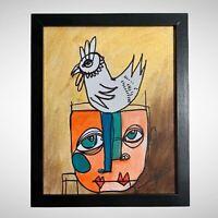 "PAINTING ORIGINAL ACRYLIC ON CANVAS (FRAME INCLUDED) CUBAN ART 8""X10"" By LISA."
