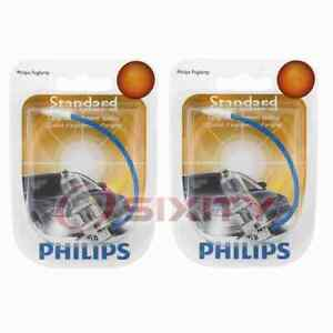 2 pc Philips High Beam Headlight Bulbs for Fiat Palio 2004-2016 Electrical am
