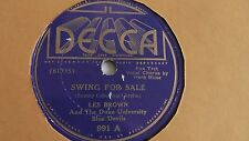 Les Brown - 78rpm single 10-inch – DECCA #991 Swing For Sale