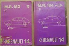 RENAULT 14 R1210 ORIGINALE Officina Manuale in 2 volumi meccanica & carrozzeria 1976