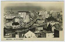 RPPC Vintage Real Photo Postcard City Gdynia UI 10 Lutego Poland Europe