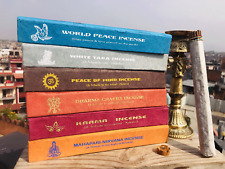 Tibetan Herbal and Medicinal Incense Sticks in a Lokta Box from Nepal