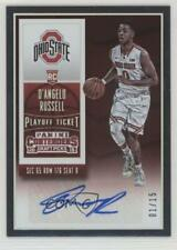 2015-16 Contenders Draft Picks College Ticket Auto /15 D'Angelo Russell Rookie