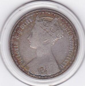 1881   Queen  Victoria  'Gothic'  Florin  (2/-)  Silver  Coin