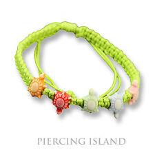 Stoff Armband Schildkröten Grün Cotton Turtle Mädchen Damen Girls Bracelett B139