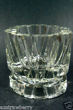 Vintage Heavy Clear Glass Candlestick Holder or Paperweight signed AVON Nice