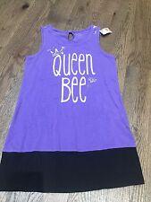 Nwt Justice Purple Top Tunic Dress Bee Queen Size 7 Bts School Trendy spring