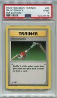 Pokemon Card 1st Edition Shadowless Maintenance Base Set 83/102, PSA 9 Mint