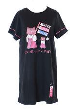 TP-123-2 Schwarz Koi-Nobori Fahne Karpfendrachen Katze Cat Lang T-Shirt Kawaii