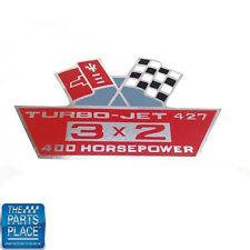 Chevrolet Air Cleaner Cover Decal Turbo Jet 427 3X2 435 HP DC0012