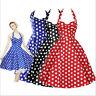 Hepburn 50er Jahre Tanzkleid Kleid Vintage Petticoat Rockabilly 36-42 BC293 NEU