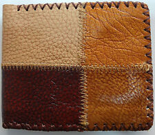 Handmade Brown Leather Wallet Purse Credit Card Holder Mens Childrens Mans Boys