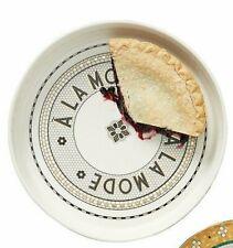 Anthropologie Pie Dish BISTRO TILE Stoneware ALA MODE Gold Cake Tart Quiche NWT