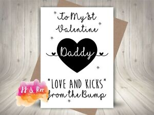 Daddy's 1st Valentines Day Card   Love & Kicks From The Bump   New Dad
