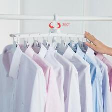 8 Cintres Pliables Organisateur Multiple Portant à Vêtements Garde-Robe Placard