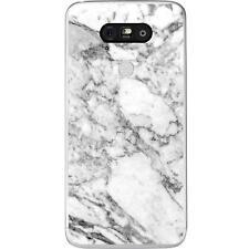 Coque Housse LG G5à motif Silicone Gel qualité FR -Marbre blanc