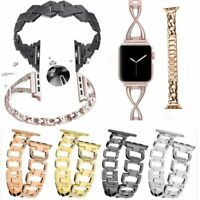 Diamond Stainless Steel Chain Watch Band For Apple Watch iWatch Band Strap 38/42