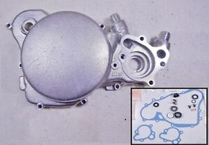83 Honda CR125R CR125 Crankcase Clutch Water Pump Housing Cover With Gasket Set