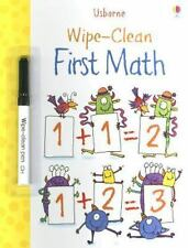 Wipe-Clean First Math Usborne Wipe-Clean Books