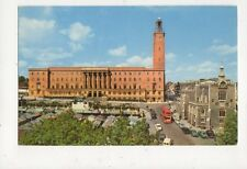 City Hall Guildhall & Market Place Norwich Old Postcard 484a