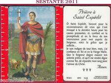 2491 SANTINO HOLY CARD S. SAN ESPEDITO EXPéDIT PRIèRE PREGHIERA PLASTICA