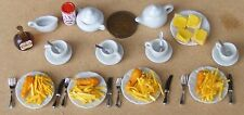 1:12 Scale Four Plaice Fish & Chips Meal For The Sea Side Dolls House Food