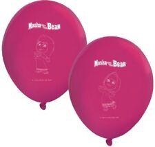 8 x Boys Girls Birthday Party Masha & The Bear Themed Latex Balloons Decorations