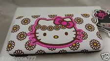 Hello Kitty daisy flower power wallet Sanrio id Claire's cute clutch white brown