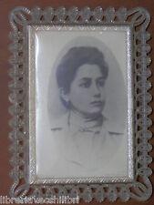 Vecchia foto fotografia antica CON PORTAFOTO IN PLASTICA CVM cornice d epoca del