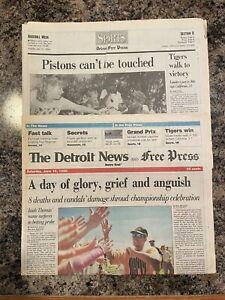 1990 Detroit Pistons NBA Champions Basketball Newspaper.  Isiah Thomas