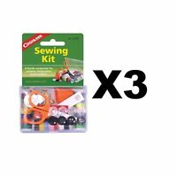 Coghlan's Sewing Kit 26-Piece Emergency Clothing Repair Kit for Camping (3-Pack)