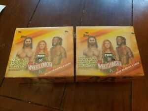 2020 Topps WWE Road to WrestleMania Sealed Box. 24 Unopened Packs Of Cards