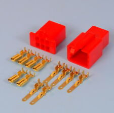 Quality 6 Way 2.8mm Mini Electrical Connector Kit Red Motorbike Motorcycle Car