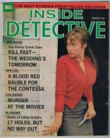 ORIGINAL Vintage March 1965 Inside Detective Magazine GGA