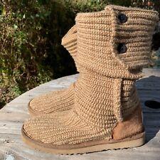 UGG Tan Brown Cardi Boots Size 7