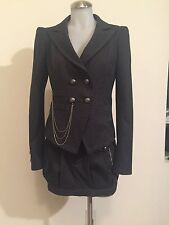 MISS SIXTY 3-Piece Suit Blazer Skirt Pants High Waist, Size Medium/27 $1500