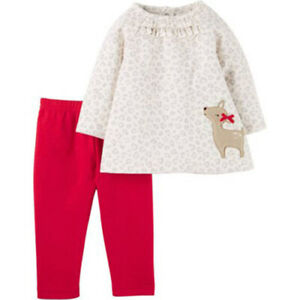 Carter's Newborn Baby Girl Pant Set-2 Pieces