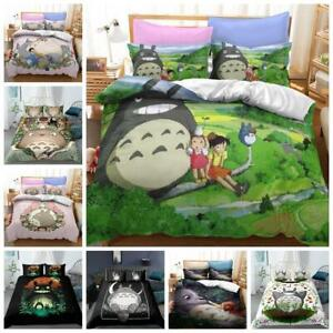 My Neighbor Totoro Cartoons Quilt Duvet Cover Bedding Set Single Size Kids Gifts