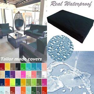 Dw04t Black waterproof cushion COVER+FOAM 40 x 100 x 7cm = 2 pieces