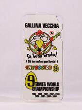 """1/12 VALENTINO ROSSI MODELLINO PIT BOARDS BANNER STAND BOX """"GALLINA VECCHIA"""" NEW"""