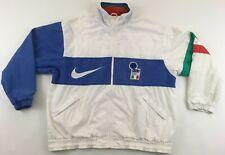 Italy Italia Euro 1996 1998 football soccer jacket Nike vintage white 1990s XL